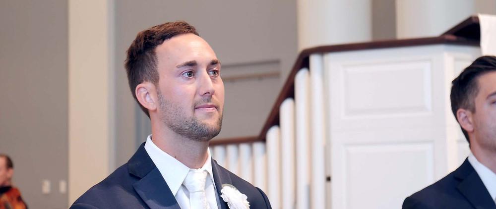 Emotional Groom Reaction To Seeing Bride