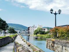 小樽運河  中央橋街園あたり Otaru Canal Chuo-Bridge area