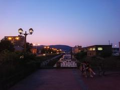 小樽運河と夕空 Otaru canal and evening sky