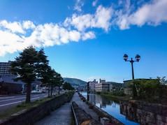 小樽運河と夏の空