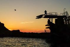 おたる水族館 Sunset at the Otaru Aquarium