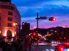 街角の夕焼け Street Corner at dusk