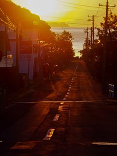 忍路の夕焼け