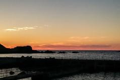 おたる水族館の夕陽 Sunset at the Otaru Aquarium