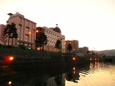 運河から眺める小樽 Townscape from the boat on the canal