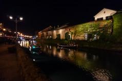 夜の小樽運河 Otaru canal at night