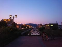 中央橋からの夕空