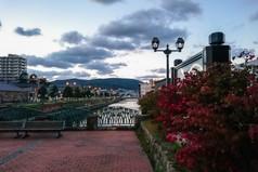 秋の中央橋街園 Chuo-bridge area in Autumn