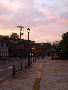 メルヘン交差点の夕空 Sunset at the Marchen Crossroad