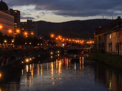 小樽運河夜景 Night-canal view