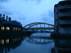 日没の旭橋 Asahi-Bridge at sunset