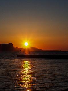 蘭島海岸の夕陽 Setting Sun in Ranshima Seashore