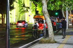 夜の人力車