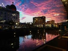 夕焼けと小樽運河 Sunset and Otaru Canal
