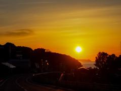 忍路の夕日