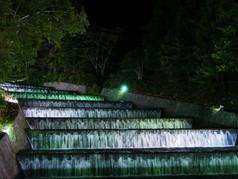 奥沢水源地ライトアップ