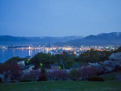 手宮緑化植物園からの宵の刻 Temiya-Park at dusk