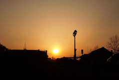 北運河からの夕陽 Sunset at North-Canal