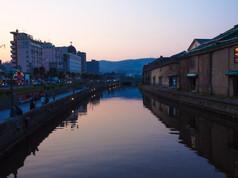 小樽運河 春の夕景 Otaru Canal in spring evening