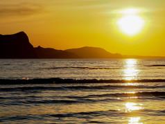蘭島の海の夕日
