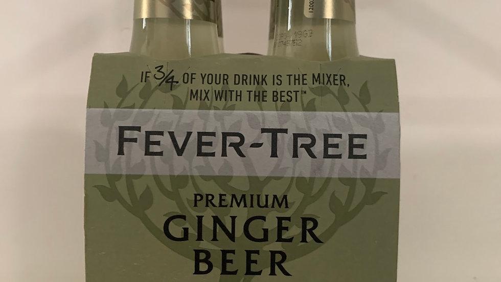 Tonica fever tree ginger beer per 4