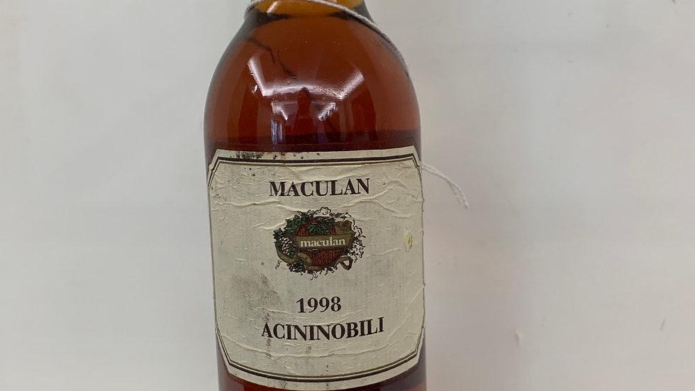 ACININOBILI   IGT    37,5cl1998Maculan