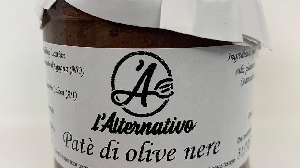 Pate` di olive nere 180 gr