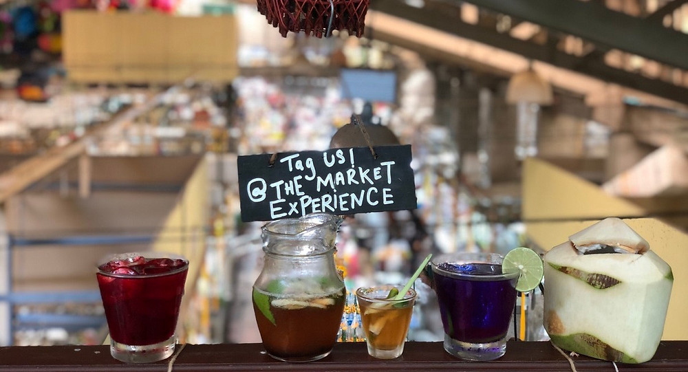 Selection of Thai drinks