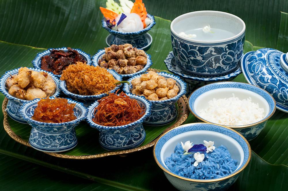 Khao Chae. A classic Thai Royal Cuisine dish
