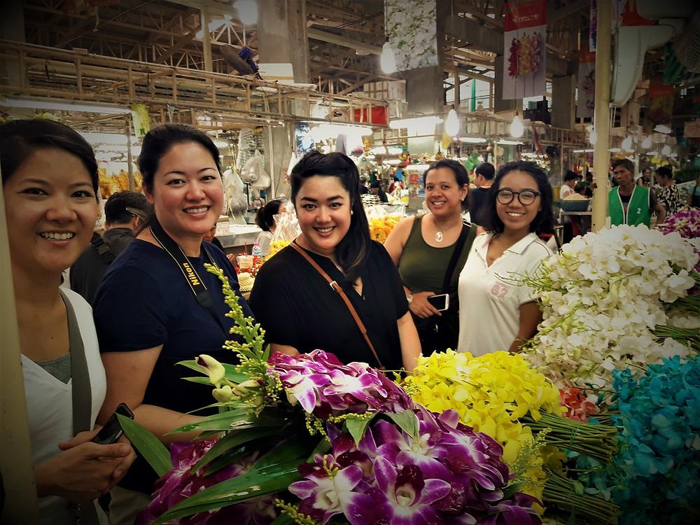Pak Klong Talad Flowerr Market in Bangkok