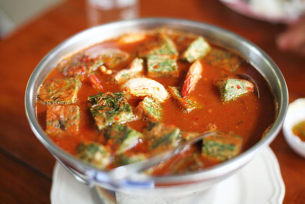 Gaeng Som - a sour orange curry