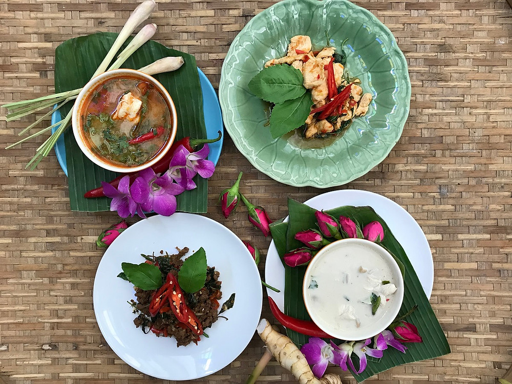 Selection of Thai dishes