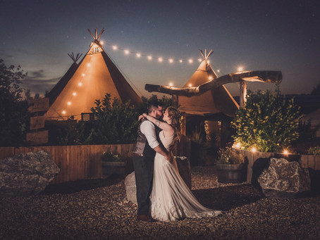 Amy & Ben's Relaxed Tipi Wedding at Inkersall Grange Farm