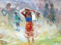 Youn Fulani Girl During Sallah