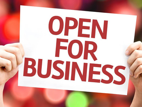 Open for Business!