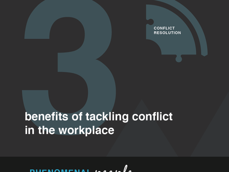 Benefits of tackling conflict in the workplace