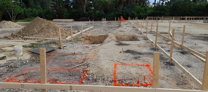 About to start excavation of 3'x 3' for concrete pilaster filled with concrete and 50% Cayman split rock. . . . #CaymanIslands #RobsonConstruction #WellnessGarden #SevenMileBeach #CaymanContractor #Digging #Foundation