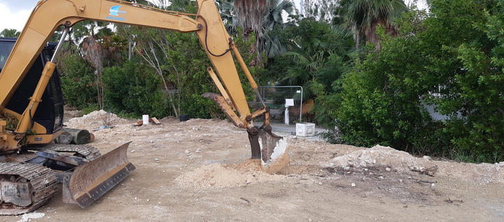 The first step we took was a site inspetion for foundation.