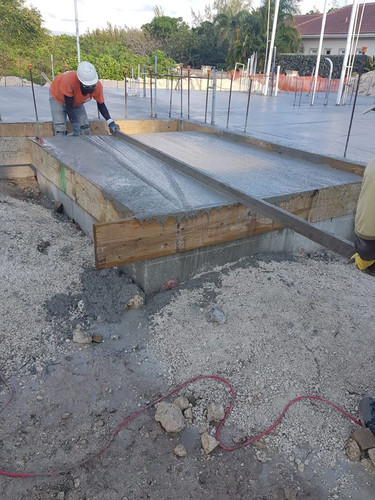 Slab on grade foundation for our project in Patrick's Island.