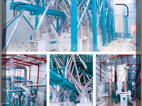 Hongdefa 120t maize mill in Swaziland