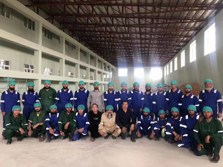 Congratulations on the successful trial operation of the 300T #wheatflourmillmachine in Afghanistan!