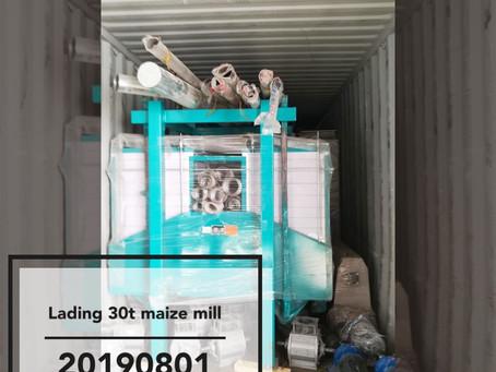 Hongdefa lading of 30t maize mill machine