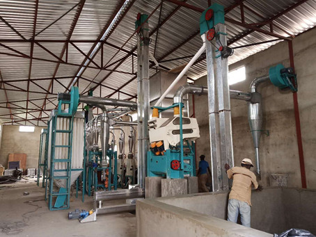 installing one more 30t maize mill machine in Malawi