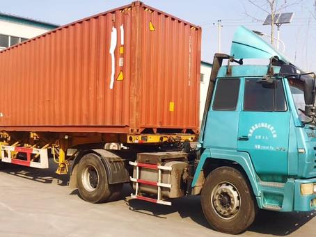 Loading 62t wheat flour mill machine to Ethiopia