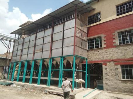Ethiopia  installing one more set 120t wheat flour mill machine