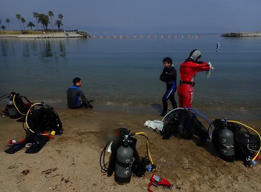 田ノ浦でオープンウォーターの講習・大分のダイビングスクールステラマリス