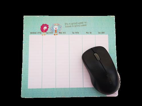 לוח תכנון שבועי - פד לעכבר