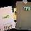 Thumbnail: סט  מכשירי כתיבה - קקטוסים