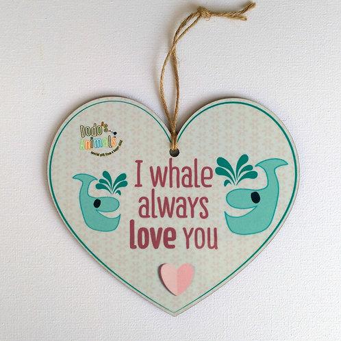 תליון לב - I Whale always love you