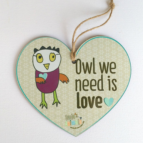 תליון לב - Owel we need is Love